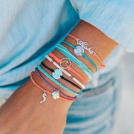 Bohemian  Woven Color Bracelet Set NHAJ279994's discount tags