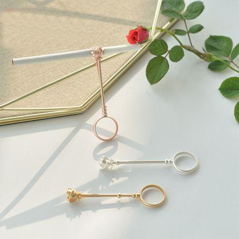 retro rose gold matt gold smoking ring adjustable thin cigarette cigarette holder rings NHHP279189's discount tags