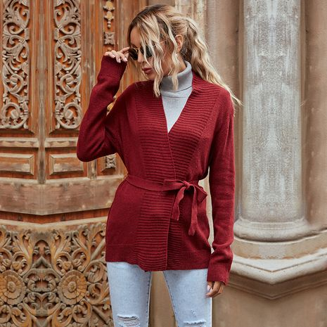Casual sweater loose knitted cardigan NHEK280852's discount tags