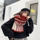 Korean fashion twocolor plaid scarf dualuse shawl NHTQ279244