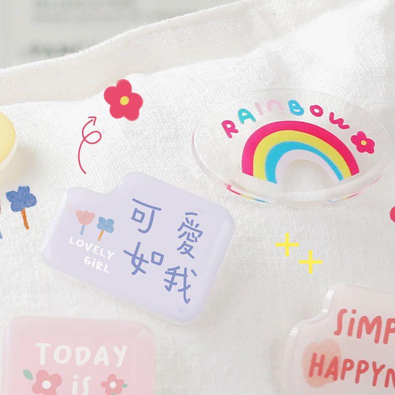 korean Cute Acrylic Small Brooch  NHZE279400