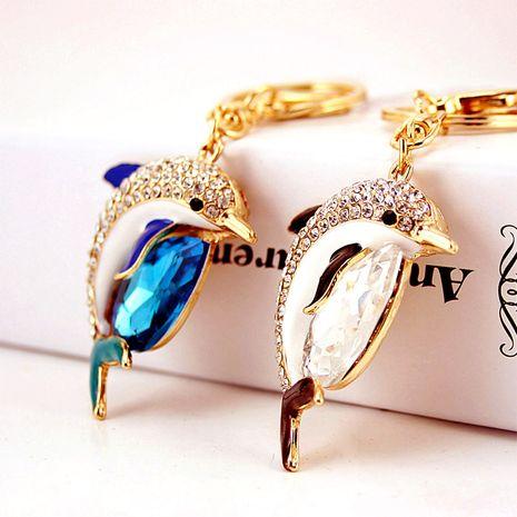 Porte-clés créatif mignon diamant cristal gemme dauphin NHAK279417's discount tags