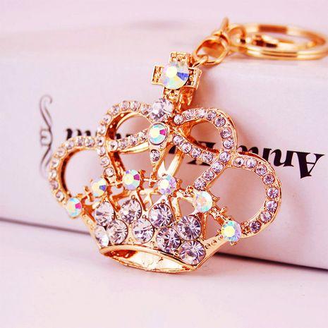 Korean  creative cute diamond crown shape car keychain  NHAK279420's discount tags