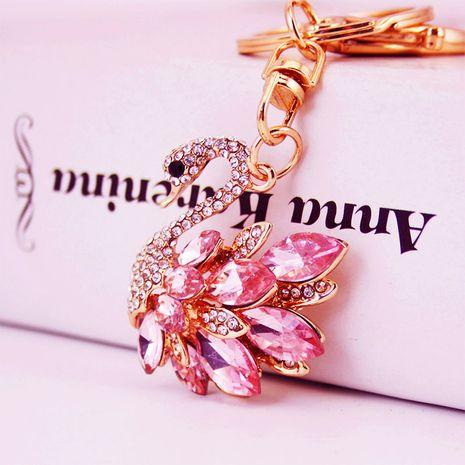 Korean creative cute diamond white swan  keychain  NHAK279422's discount tags
