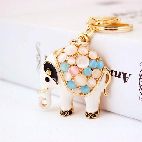 Korean  creative cute opal elephant  keychain  NHAK279424's discount tags