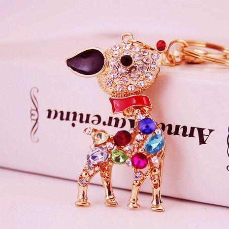 Creative cute colorful cartoon sika deer animal keychain NHAK279428's discount tags