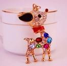 Creative cute colorful cartoon sika deer animal keychain NHAK279428
