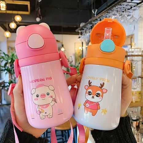 cute children's thermal insulation straw cup  NHtn279474's discount tags
