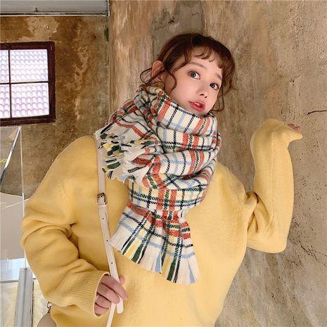 Korean imitative cashmere plaid scarf  NHCM279610's discount tags