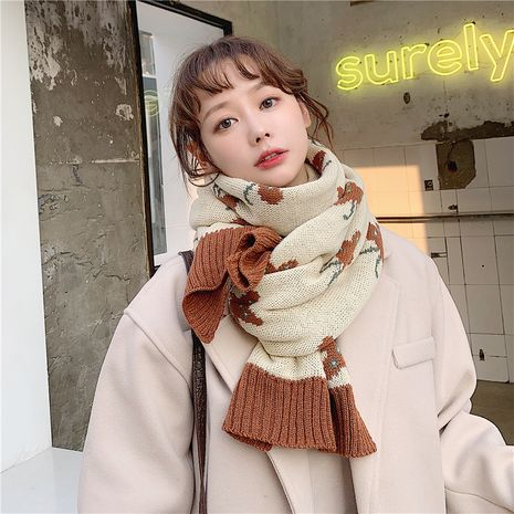 Korean all-match warm knitted scarf  NHCM279612's discount tags