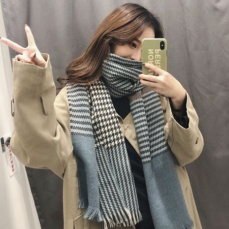 British style plaid imitative cashmere  thickened warmth Scarf  NHCJ279651's discount tags