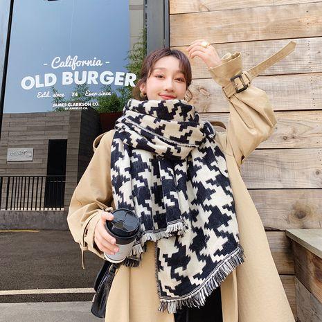 British new plaid warm scarf  NHCJ279663's discount tags
