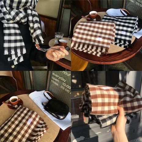 new Scottish plaid double-sided imitative cashmere tassel scarf  NHCJ279665's discount tags