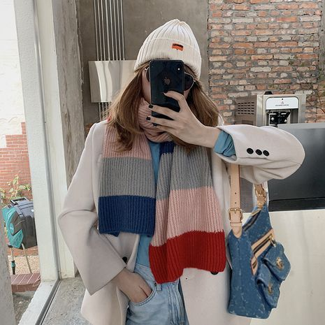 new Korean imitative cashmere knitted warm scarf NHCJ279689's discount tags
