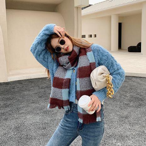 warm imitative cashmere Korean plaid fashion scarf  NHCJ279692's discount tags