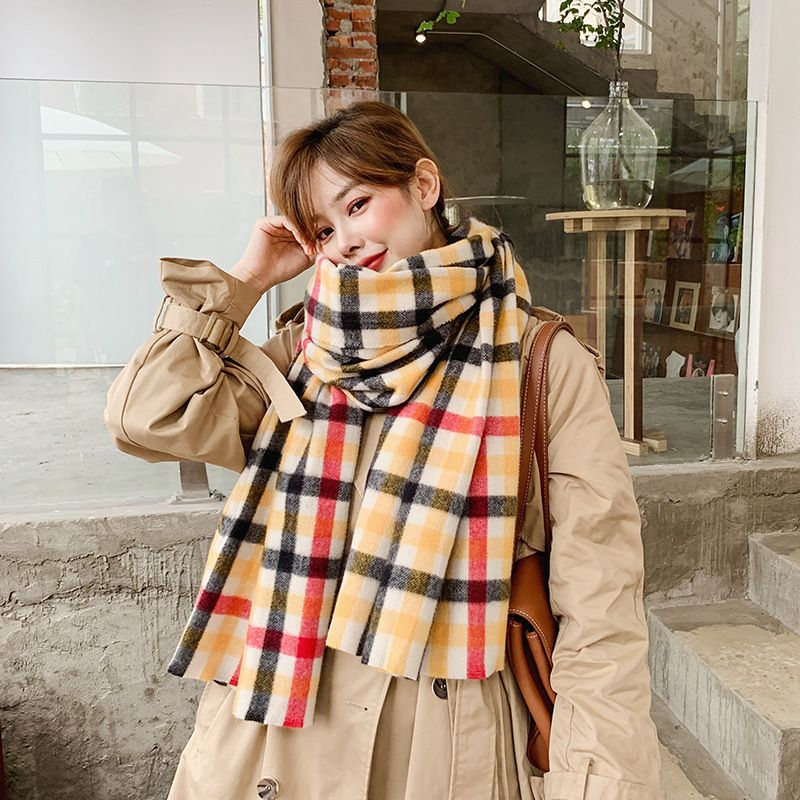 Korean new imitative cashmere thickened scarf  NHCJ279694