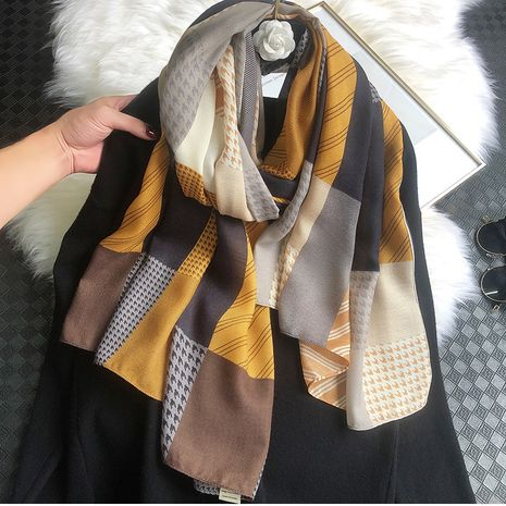 new scarf temperament cotton and linen warm scarf NHCJ279695's discount tags