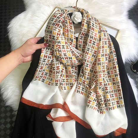 Scarf new cotton and linen fashionable scarf NHCJ279699's discount tags