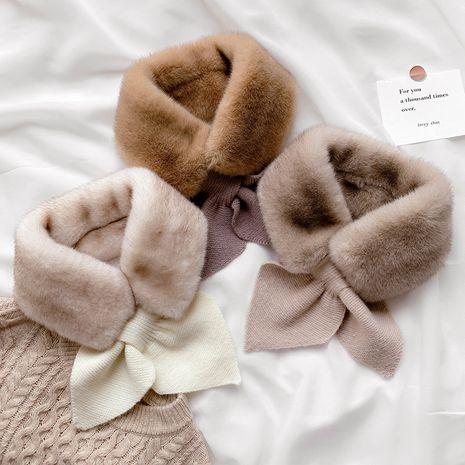 bufanda de punto cálido en color liso NHCJ279723's discount tags