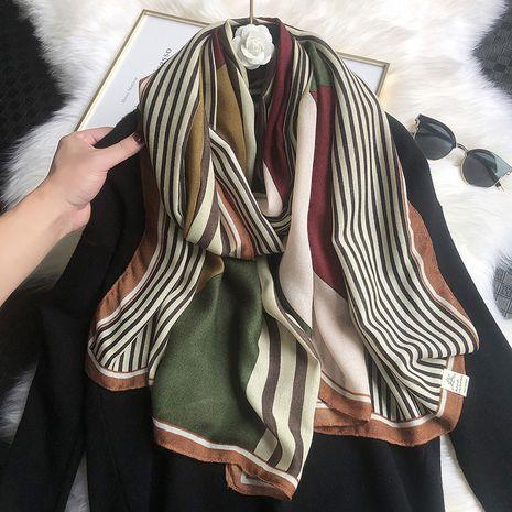 Korean new satin cotton scarf  NHCJ279727's discount tags