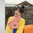 NHTQ1242100-Raccoon-label-scarf-pink-85CM