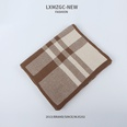 NHTQ1242145-Two-tone-Checkered-Scarf-Coffee-Color-197CM
