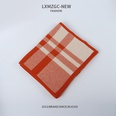 NHTQ1242146-Two-tone-Checkered-Scarf-Orange-197CM