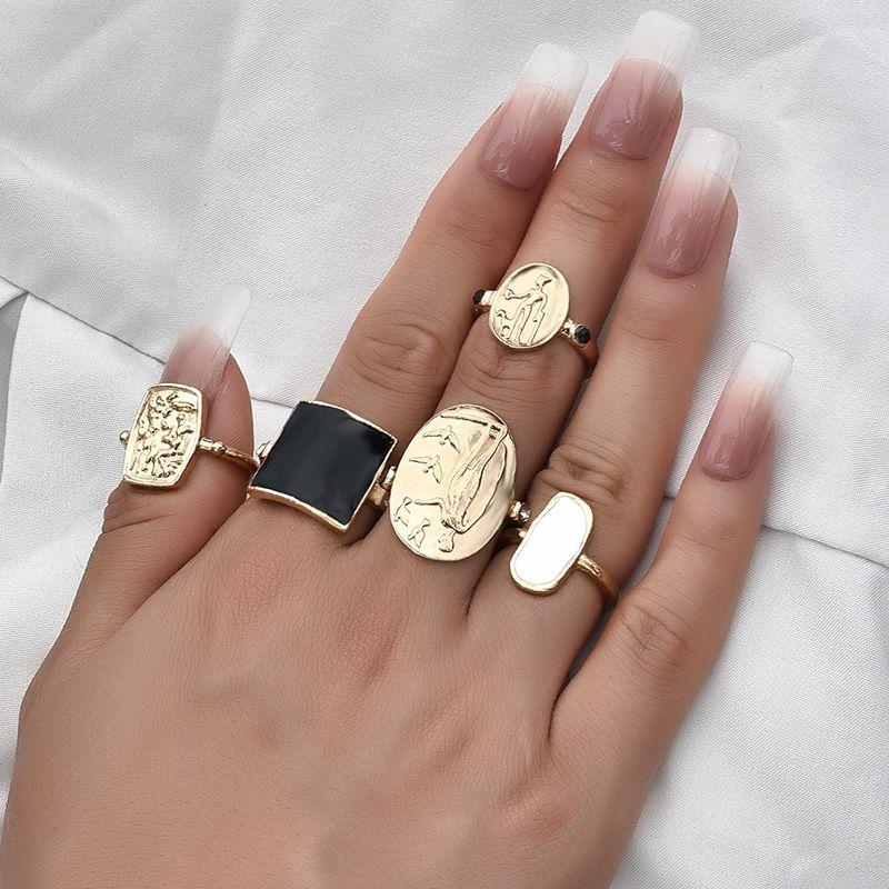 fashion  drip oil ring  set  NHAJ280001