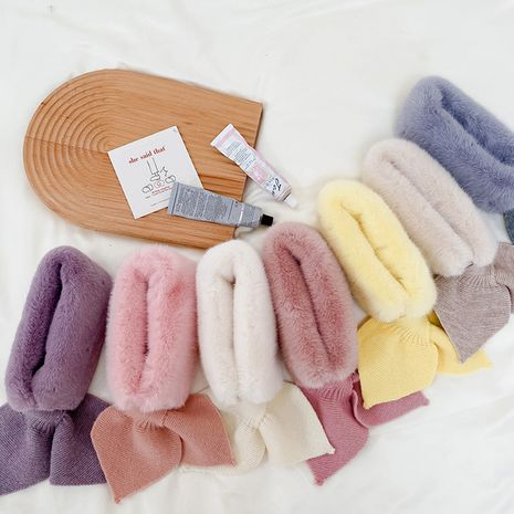Korean  new cute cold-proof collar plush warm mermaid bib scarf  NHQU279254's discount tags
