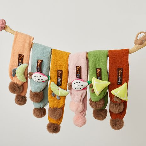 cute cartoon fruit hair ball cross scarf  NHQU279256's discount tags