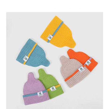gorro de lana para niños con costuras de color en contraste NHQU279257's discount tags