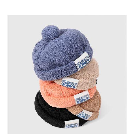 Sombrero de pelo de cordero de personalidad hermosa melón de moda coreana NHQU279258's discount tags