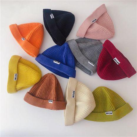 gorro de punto cálido de lana para niños NHQU279272's discount tags