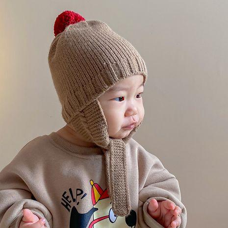 Sombrero de punto de protección auditiva para niños de Corea NHQU279277's discount tags