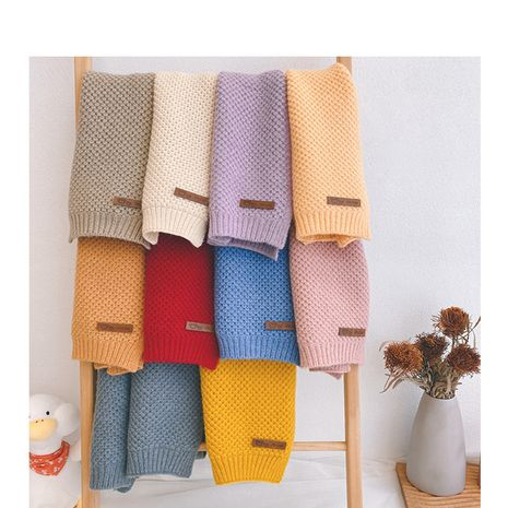 wool  bib children's pure color corn kernels knit  scarf NHQU279285's discount tags