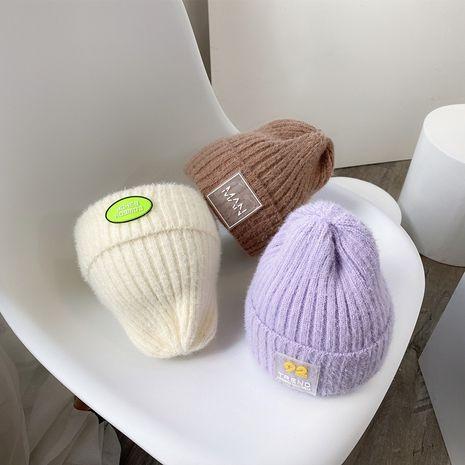 sombrero de lana de piel de conejo bebé de invierno NHQU279290's discount tags