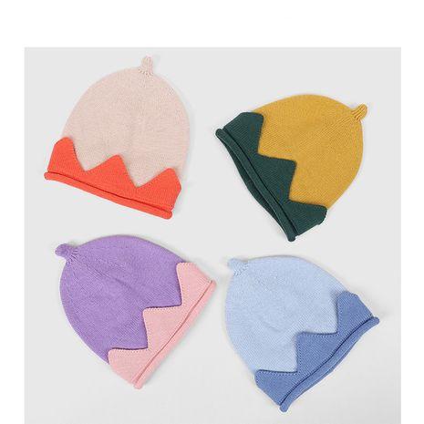 sombrero de lana de algodón de invierno sombrero de punto de corona linda bebé NHQU279293's discount tags