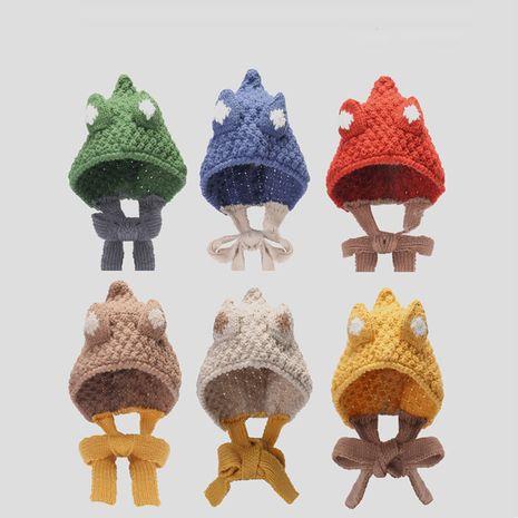 sombrero de lana tejido con cordones a juego de color para niño grande NHQU279295's discount tags