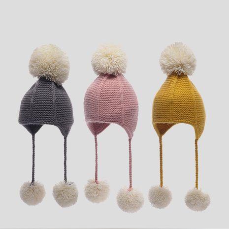 Sombrero coreano cálido para niños con protección auditiva NHQU279308's discount tags