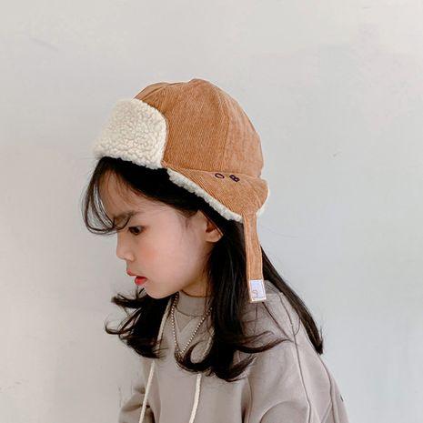 Gorra voladora de protección auditiva para niños coreanos de piel de cordero NHQU279306's discount tags