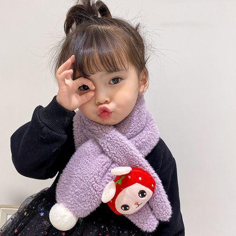 children's  lamb wool cartoon scarf NHQU279327's discount tags
