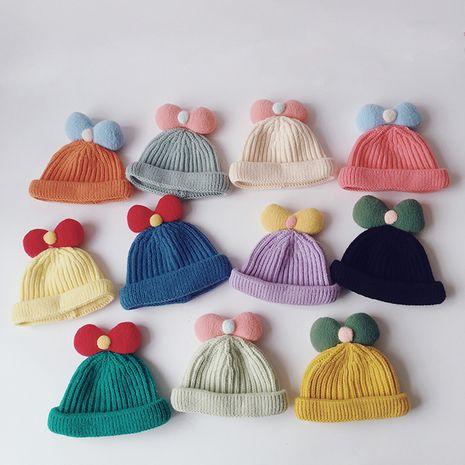 sombrero de piel de melón tejido bebé de invierno NHQU279328's discount tags
