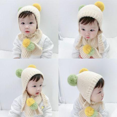 casquillo del oído de los niños del sombrero de lana de la bola del bebé del invierno NHQU279335's discount tags