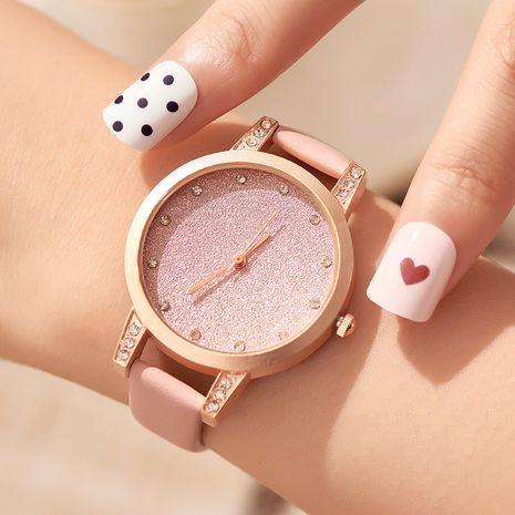 Reloj de moda con cinturón con purpurina y diamantes NHSS279352's discount tags