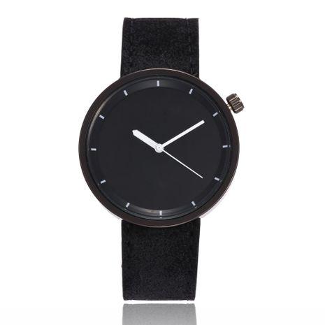 Reloj de correa casual de cuarzo con aguja blanca y concha negra simple de moda NHSS279353's discount tags