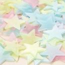 3cm star luminous 100pcs pack fluorescent star sticker  NHAF279383