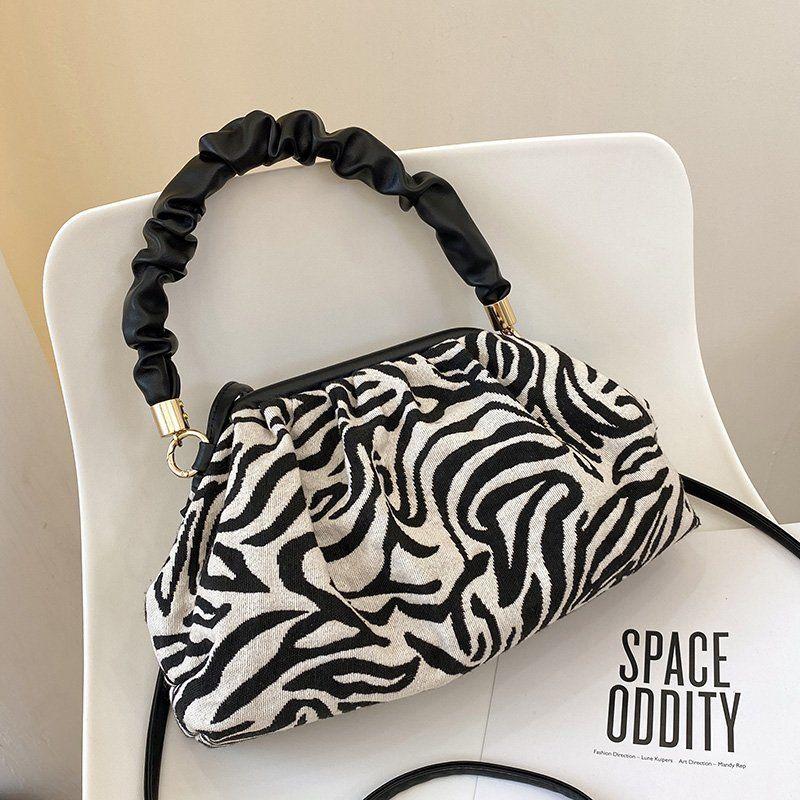 Simple one-shoulder wrinkled handbags NHLH279754