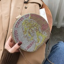 Diamondstudded Dollar Shoulder Round Bags NHLH279752