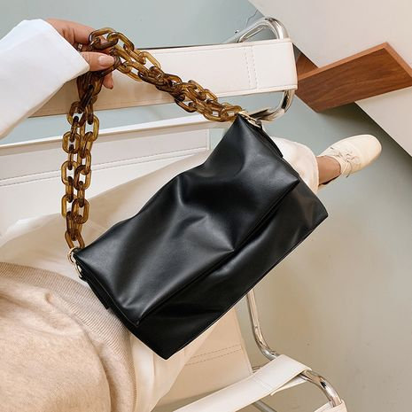 sac aisselle en cuir souple NHLH279751's discount tags
