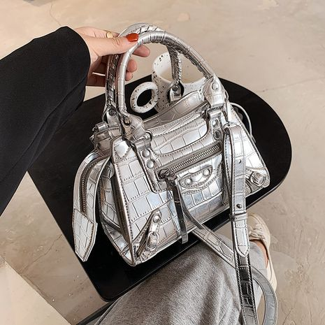 fashion shiny crocodile pattern locomotive handbags  NHLH279756's discount tags